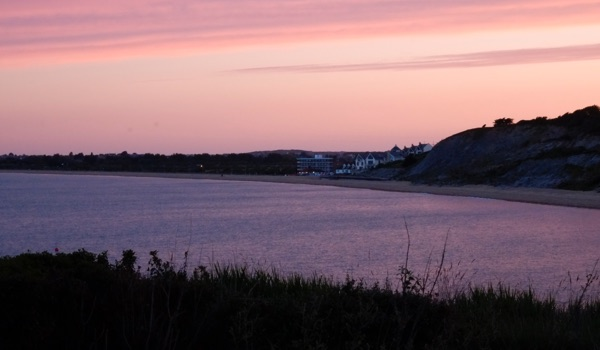 Sunset Bowlease Cove Weymouth